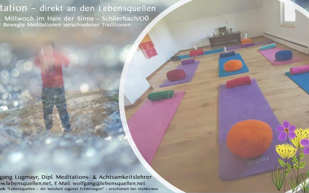 Meditation – direkt an den Lebensquellen, mit Wolfgang Lugmayr